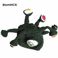 Macki BomHCS Zabawny Prezent Octopus Hat 100% Ręcznie Na Szydełku Czapka Zimowa Czapki Boże Narodzenie Halloween