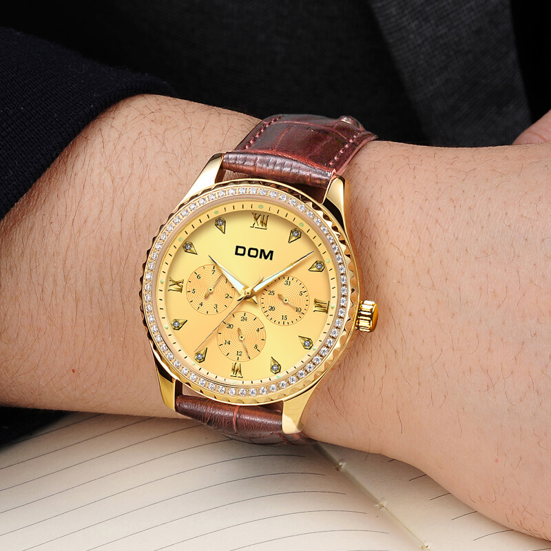 DOM meeste käekellad Top brändi luksus veekindel kuldne kvartsi - Meeste käekellad - Foto 4