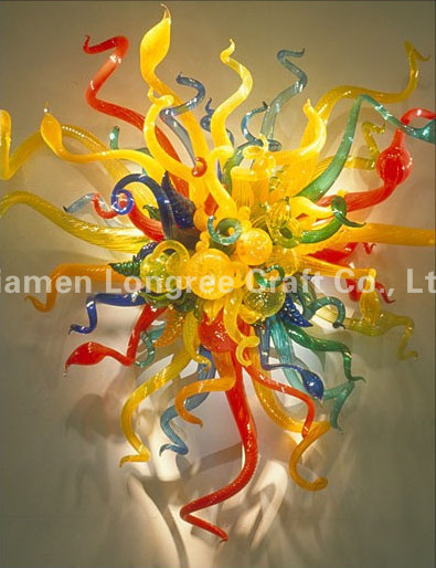 Chihuly Style Blown Glass Wall Light Hotel Lobby Decorative Wall Art Modern  Colorful Crystal Wall Lamp