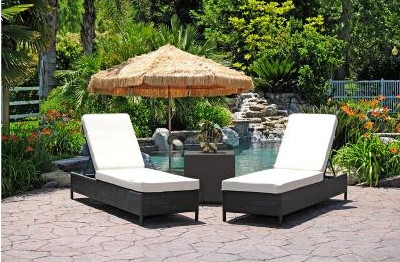 Sigma Moderne Terrasse Mobel Outdoor Chaise Lounge Set 3 Stuck In