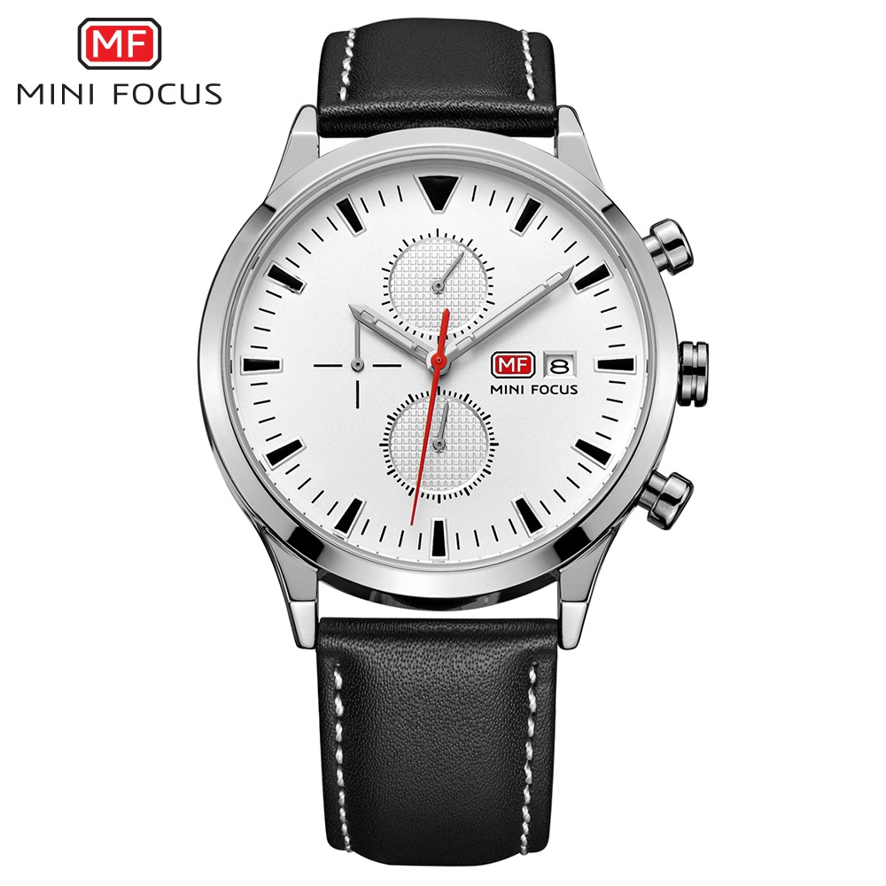MINI FOCUS Top Fashion Men Watches New 2018 Brand Sport Quartz Watch Famous Male Leather Clock Montre Homme Relogio Masculino new listing yazole men watch luxury brand watches quartz clock fashion leather belts watch cheap sports wristwatch relogio male