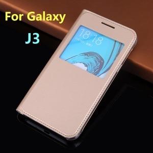 Image 2 - Flip Housse En Cuir Pour Samsung Galaxy J3 2016 GalaxyJ3 J 3 SM J320F J320FN J320H J302M SM J320F SM J320FN SM J320H