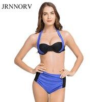 JRNNORV New Sexy Bikinis Women Swimsuit High Waisted Bathing Suits Swim Halter Push Up Bikini Set