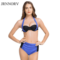 JRNNORV New Sexy Bikinis Women Swimsuit High Waisted Bathing Suits Swim Halter Push Up Bikini Set