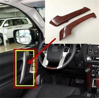 ABS Chrome For Toyota Prado FJ150 2010 2016 Front Armrest Panel Door Handle Decoration Cover Trim Car Styling Accessories