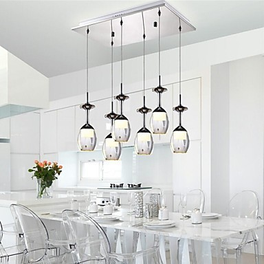 3Wx6 LED Tasse Weinglas Moderne LED Pendelleuchte Lampe Mit 6 ...