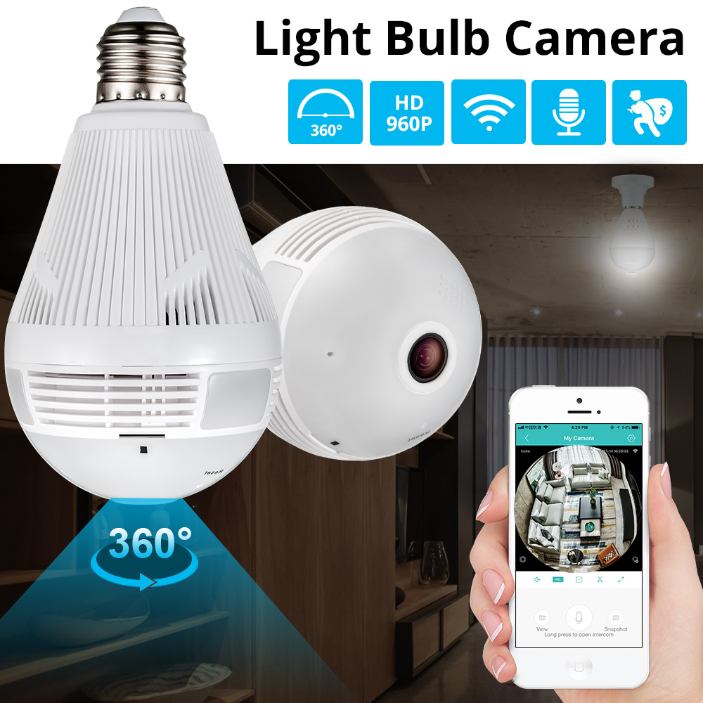 KERUI LED Light 960P Wireless Panoramic WiFi CCTV IP Camera