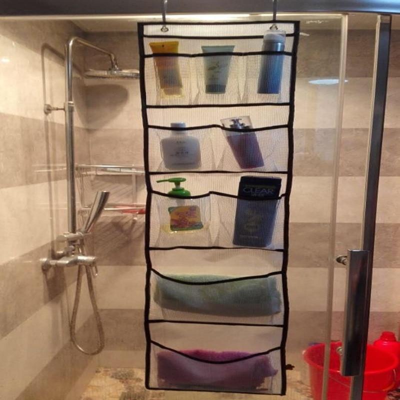 Fashion Mesh Storage holder Bath Bathtub Organizer Suction Bathroom ...