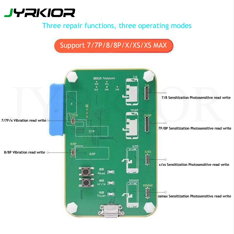 Auto Brightness Repair Programmer for iPhone 7/7P/8/8P/X/XS/MAX LCD Screen Sensitization Photosensitive Data Read Write Module-in Hand Tool Sets from Tools    1