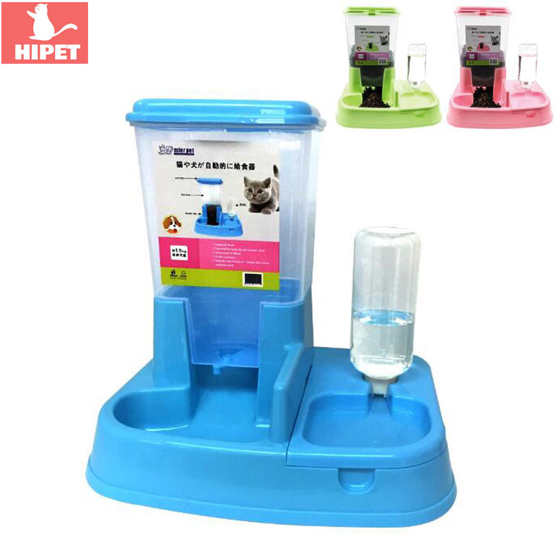 Pet Automatic Feeders For Dog Cat Drinking Feeding Bowl Drinker Dog Cat Drinking Bottle Water Dispenser Dog Food Container