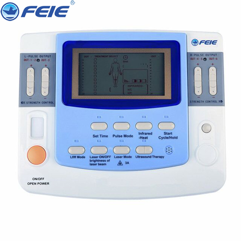 Electronic Pulse Therapy Massager Device Physiotherapy Instrument Full Body Digital Treatment EF-29 New arrival quality guaranteed new silver color large lcd screen mini electric massager digital pulse therapy muscle full body massager