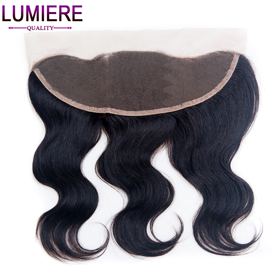 ФОТО Lumiere Hair Brazilian Body Wave Hair Closure 13''x 4'' Lace Frontal 1 Piece Non-remy Hair 8''-20'' Human Hair