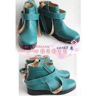 Saint Seiya Gold Saints Mu Green Cosplay Shoes S008
