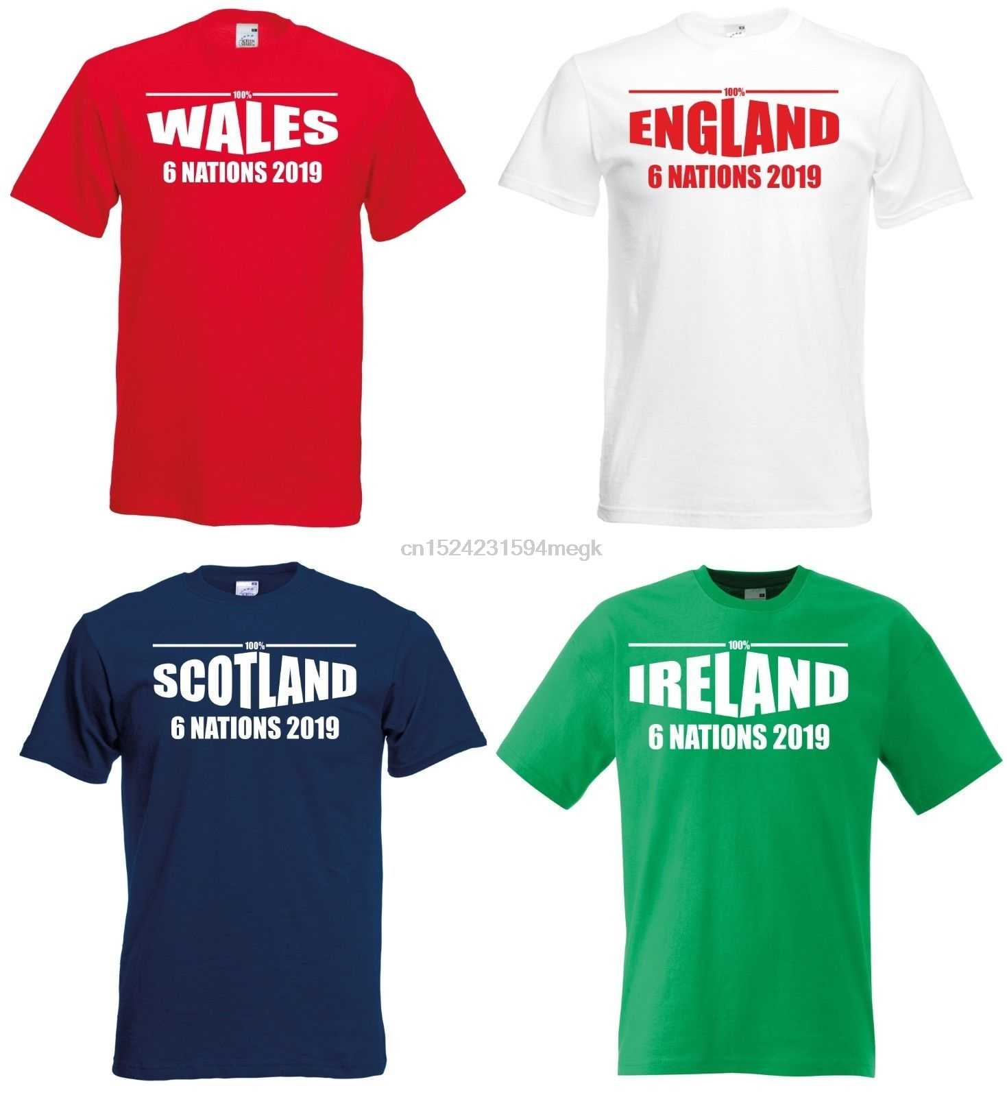 19c67deba13 6 Nations 2019 Rugby T-Shirt Mens Ladies England Ireland Scotland Wales  France