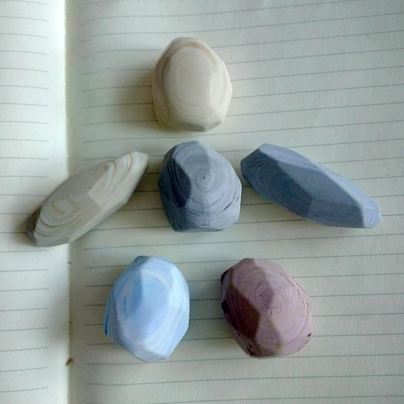 Nowość w kształcie kamienia Design ołówek z gumką szkoła biurowa gumki z miękkiej gumy Student Kids artykuły papiernicze na prezent