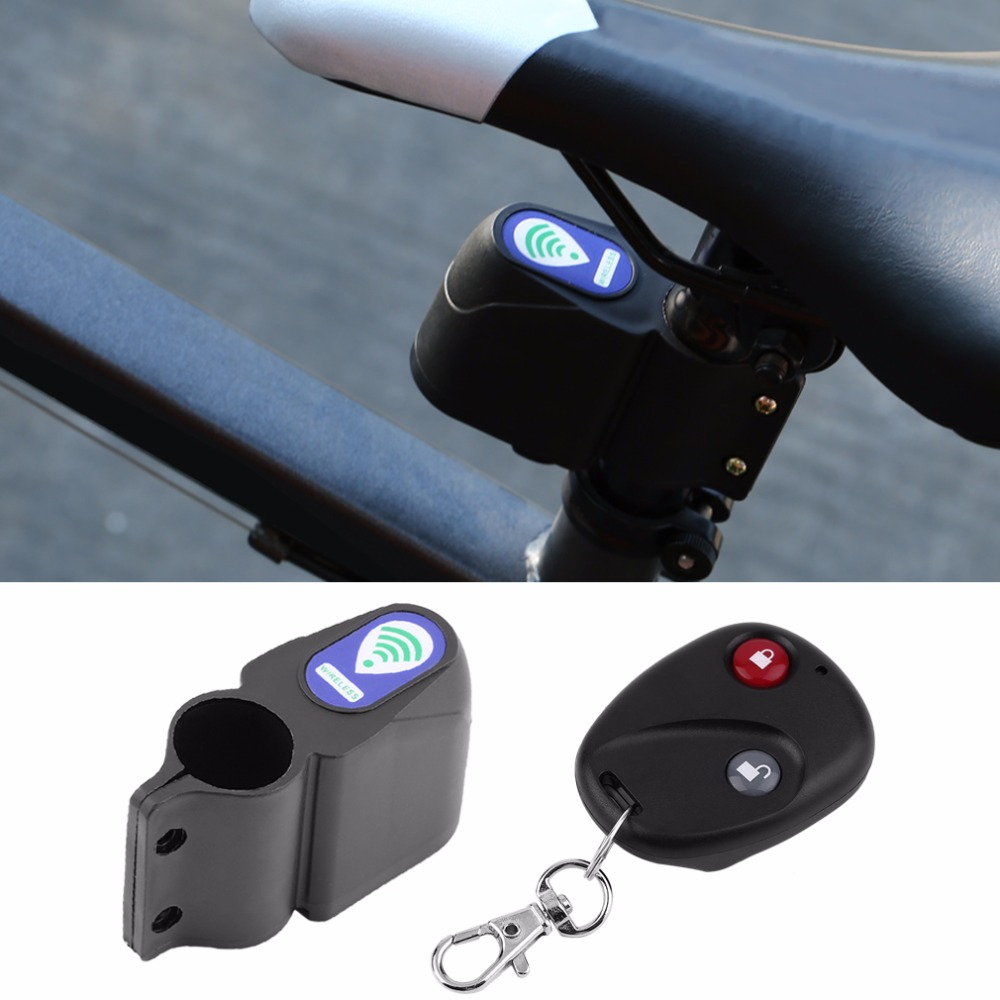 Loud Sound Professional Anti-theft Bike Lock Cycling Security Lock Remote Control Vibration Alarm Bicycle Vibration Alarm