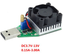 RD Industrial Grade Electronic Load resistor USB Interface Discharge battery test capacity with fan adjustable current 15w 39%of