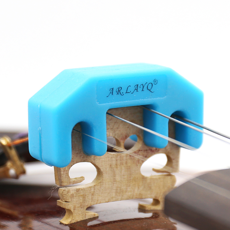 Rubber Violin Mute Durable Rubber Practice Mute Silencer Volume Control For Violin Strings Acoustic Violin Accessories
