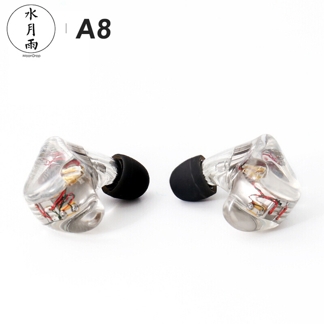MoonDrop A8 Knowles 8 BA Unit Driver (Single-sided) HiFi AUDIO In-Ear Earphone Public Template IEM with Detachable Cable 4