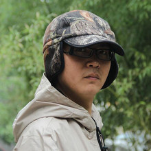 Browning Camouflage Camping Bonnet Bionic Camouflage Warm Earmuffs Cap Autumn and Winter No Brim Hunting Hats(China)