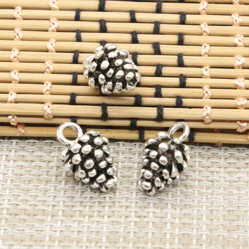 10pcs Charms pine cone 19*12*11mm Tibetan Silver Plated Pendants Antique Jewelry Making DIY Handmade Craft