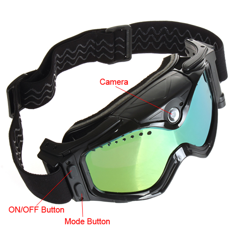 15MP Full HD 1080 P cámara de Vídeo Cámara de los Anteojos del Esquí Gafas de Sn