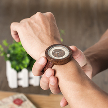 BOBO BIRD Men High Quality Quartz Wrist Men's Natural Wood Watches Simple Casual Design Watches in Gift Bamboo Box custom logo