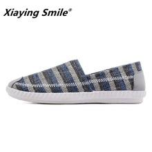 Для мужчин s Лоферы для женщин модные мокасины ручной работы обувь из мягкой парусины синий слипоны Мужчин's Лодка обувь отдыха мужской легкий