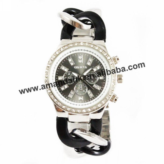 Rhinestone Watch Unisex-Style Geneva And Popular Chain-Strap Good-Gift Alloy Metal Special-Cowboy