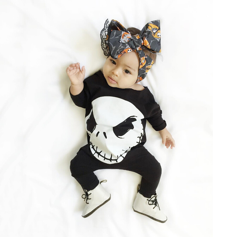 17 Cute Baby Boy Girls Halloween Romper Cotton Jumpsuit Playsuit Fall Winter Clothes Outfit 0-18M 1