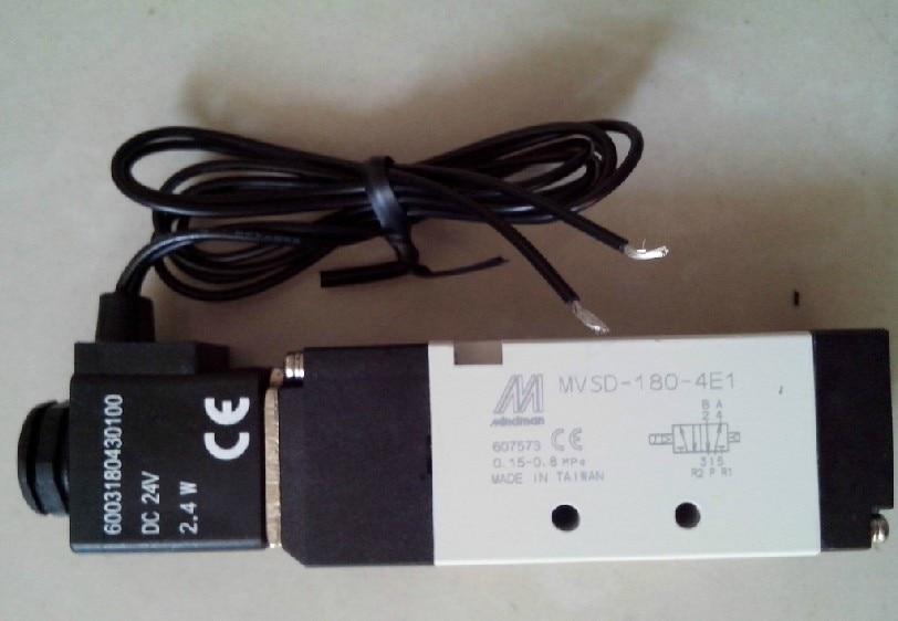 New MINDMAN Solenoid Valve MVSD-180-4E1 MVSD1804E1 coil DC24V new mindman solenoid valve mvsc 300 4e1 mvsc3004e1 coil ac220v