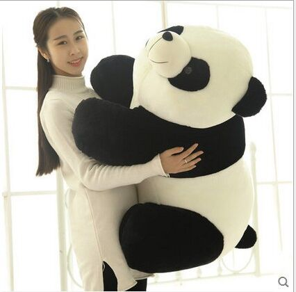 new big lovely plush panda toy black&white panda doll gift about 70cm lovely giant panda about 70cm plush toy t shirt dress panda doll soft throw pillow christmas birthday gift x023