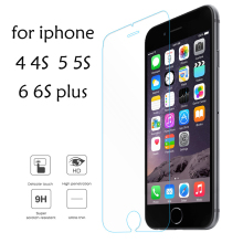 For iPhone 6 6s 7 8 plus Tempered Glass For iPhone 5 5s X Screen Protector Glass For iPhone SE 4 Protective Film Eye protection