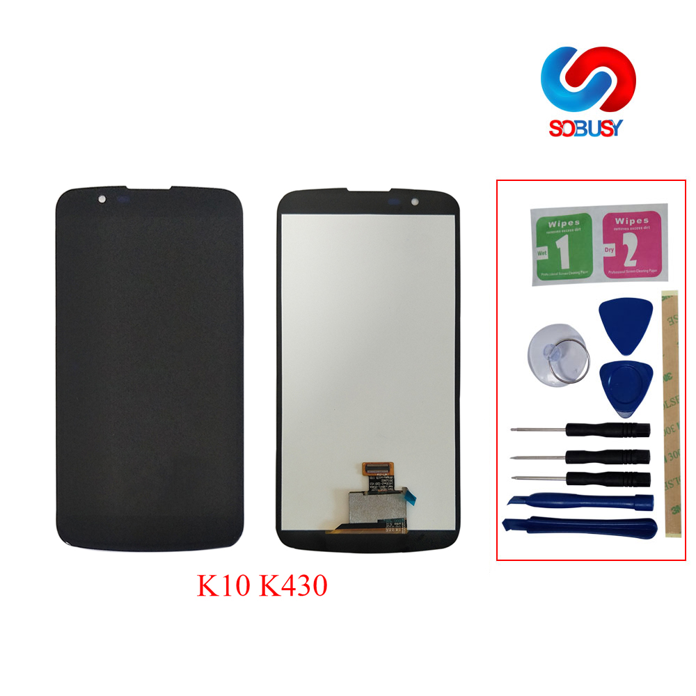 100% tested LCD Tela For LG K10 Display LCD K10 LTE K430 K430DS K420N 420N K410 K410TV Touch Screen Pantalla with Bezel Frame