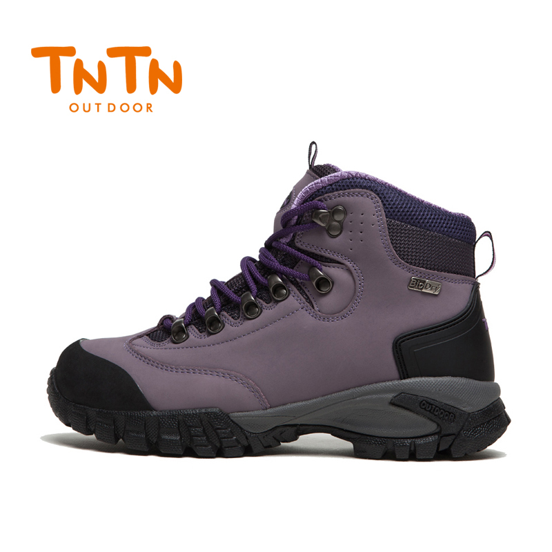 2017 TNTN Outdoor Autumn And Winter Breathable Leather Waterproof  Women Hiking Mountain Climbing Shoes Hiking Boots yin qi shi man winter outdoor shoes hiking camping trip high top hiking boots cow leather durable female plush warm outdoor boot