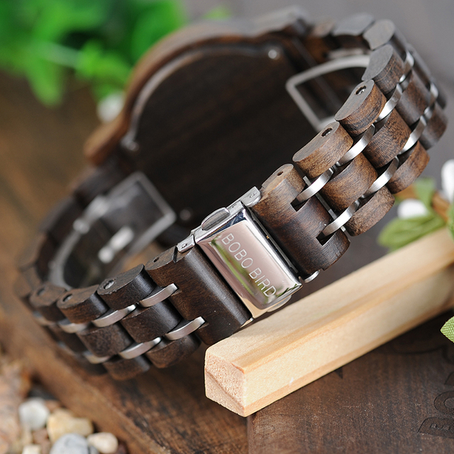 BOBO BIRD Women Watches Luxury Chronograph Date Quartz Watch Luxury Versatile Ladies Wooden Timepieces Accept Logo Drop Shipping 5
