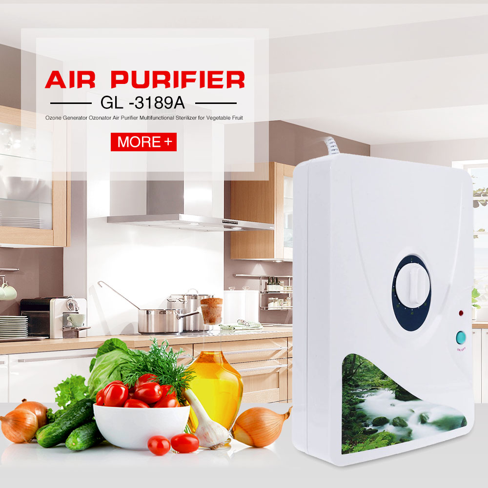 GL -3189A Ozone Generator Ozonator Air Purifier For Water Treatment time 600mg Multifunctional Sterilizer for Vegetable Fruit commercial portable 110v medical ozone water air sterilizer for hospital 600mg hr fm c600