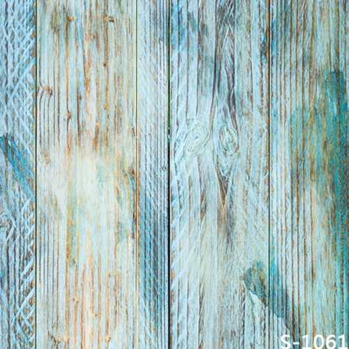 10x10ft Light Blue Distressed Wooden Planks Wall Texture