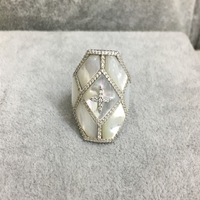 Fits Monaco Jewelry Match Women's Jewelry Party Gifts Charm 925 Sterling Silver Micro inlaid Zircon Star Art Deco Ring