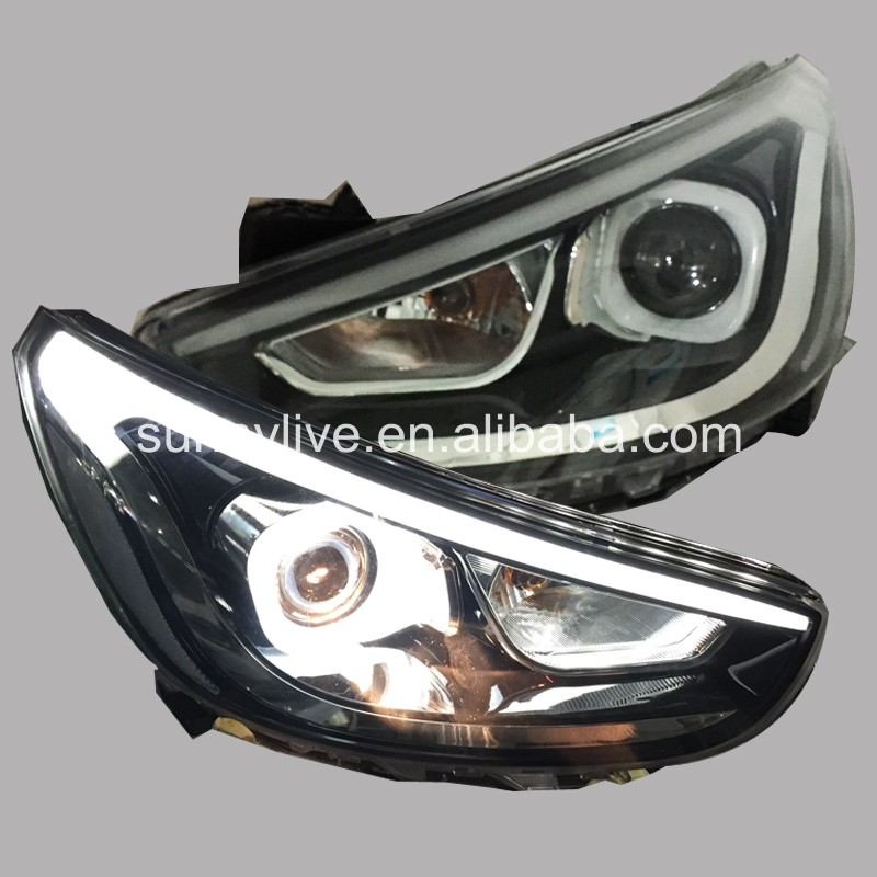 Pour HYUNDAI ACCENT berline phare LED 2010-2011 WH