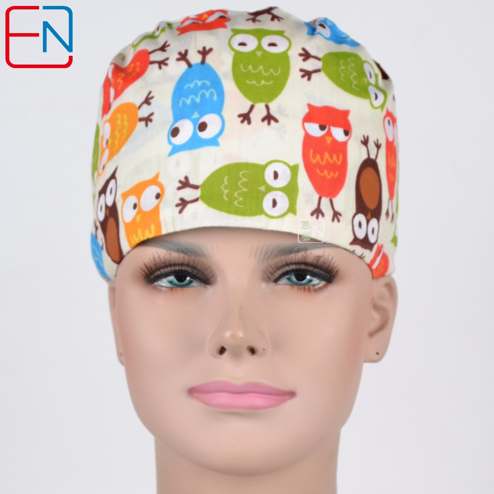 Unisex Doctor Caps Skull Caps ,surgical Caps In Beight With Night Owls