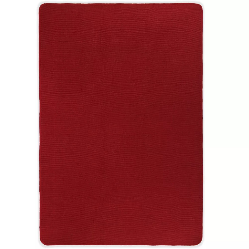 EHOMEBUY 2019 Carpet New Modern Area Rug Jute with Latex Backing 120x180 cm Red Simple Non-slip Mats European and America StyleEHOMEBUY 2019 Carpet New Modern Area Rug Jute with Latex Backing 120x180 cm Red Simple Non-slip Mats European and America Style