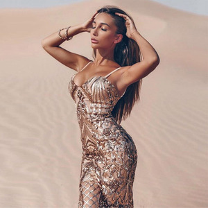 Image 3 - Seamyla New Bodycon Sexy Mùa Hè Vestidos Sang Trọng Đính Hạt Cườm Váy Nữ Spaghetti Dây Đêm Ra Câu Lạc Bộ Trang Phục Dạ Hội
