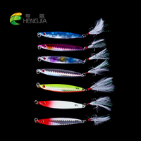 HENGJIA 70PCS hard metal lead fishing lures wobbler jigs fishing baits sea sinking lures pesca fishing tackles
