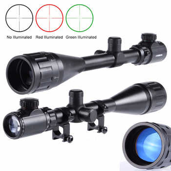 Tactical 6-24X50AOEG Green/Red dot Rangefinder with Holographic Reticle Sight and 20mm Mount Ring fit Hunting Rifle