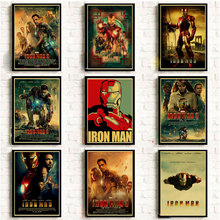Los Vengadores Iron Man cartel de Marvel Comics Vintage imprime y pósters Café Bar Pared de habitación pegatina arte pintura decoración del hogar