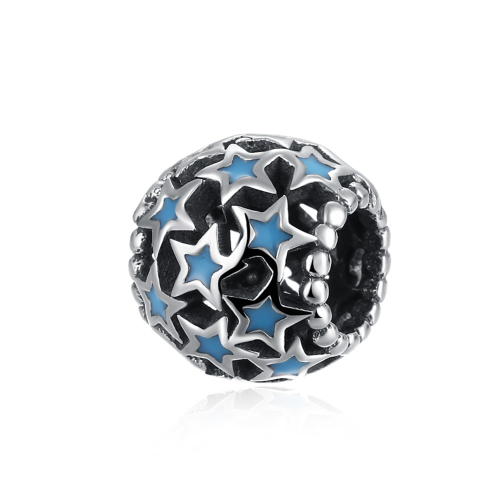 Joyería de moda europea y americana serie de diamantes de Plata de Ley 925 piezas huecas-in Fornituras y componentes de joyería from Joyería y accesorios    1