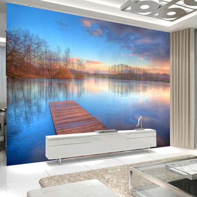 Modern fashion 3d effect aangepaste behang woonkamer slaapkamer ...