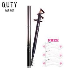 QUTY  Deluxe Eyebrow Pencil 5 Colors Pen Eye Smooth Brush Makeup Long Lasting Waterproof Brand