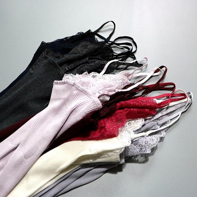 70% Silk 30% Cotton Knit Lace Camisole Top Vest Sleepwear Spaghetti Strap SG309 2
